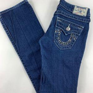 True Religion BILLY Studded Rhinestone Jeans 27